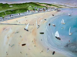 To the Skies by Lucy Young - Original Painting on Stretched Canvas sized 32x24 inches. Available from Whitewall Galleries